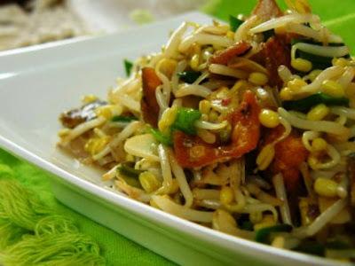 daging tumis tauge sajian praktis untuk sahur resep